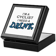Cyclist Need a Drink Keepsake Box