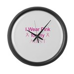 I Wear Pink for my Large Wall Clock