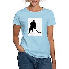 Hockey Player Women's Pink T-Shirt