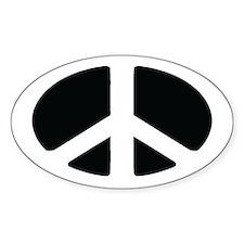 Peace Oval Bumper Stickers