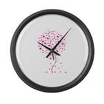 Pink Ribbon Tree - Tree of Ho Large Wall Clock