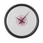 Pink Ribbon -Circle II Large Wall Clock