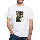 Vintage tennis Mens White T-shirts