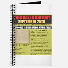 september 25th-birthday Journal