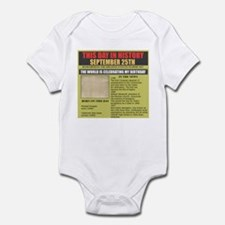 september 25th-birthday Infant Bodysuit