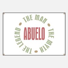 Abuelo Man Myth Legend Banner