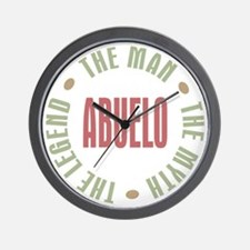 Abuelo Man Myth Legend Wall Clock