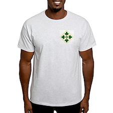 4th INFANTRY DIVISION Ash Grey T-Shirt