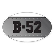 B-52 Aviation Oval Decal