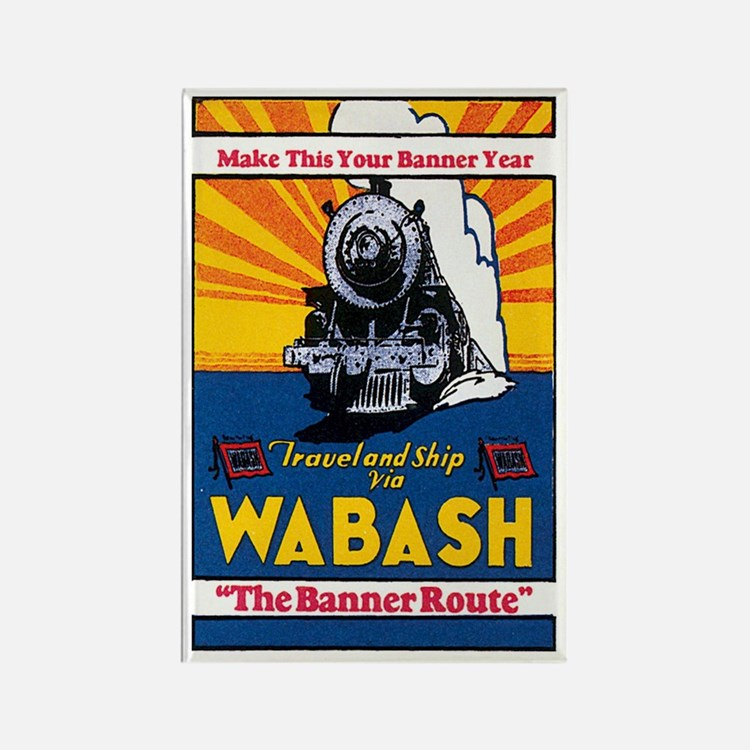 Wabash Railroad Rectangle Magnet
