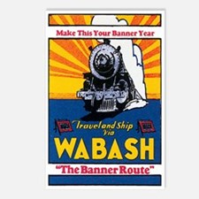 Wabash Railroad Postcards (Package of 8)