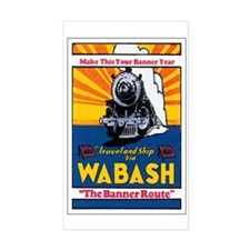 Wabash Railroad Rectangle Decal