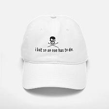 i knit so no one has to die Baseball Baseball Cap