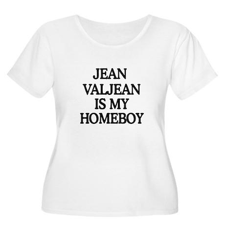 JVHB Women's Plus Size Scoop Neck T-Shirt
