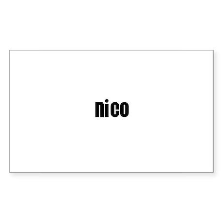Nico Rectangle Sticker