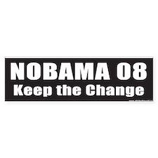 NOBAMA 08 Keep the Change Bumper Bumper Bumper Sticker