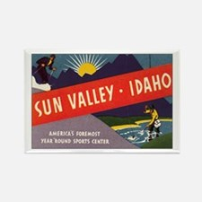 Sun Valley Idaho Rectangle Magnet