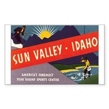 Sun Valley Idaho Rectangle Decal