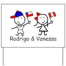 Flags - Rodrigo & Vanessa Yard Sign