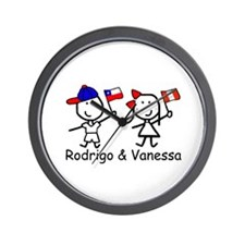 Flags - Rodrigo & Vanessa Wall Clock