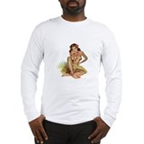 Hawaiian girl Long Sleeve T-shirts