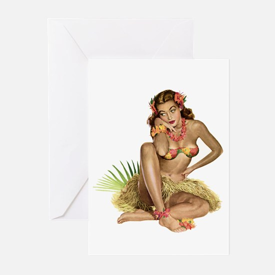 Tropical Girl Greeting Cards (Pk of 10)
