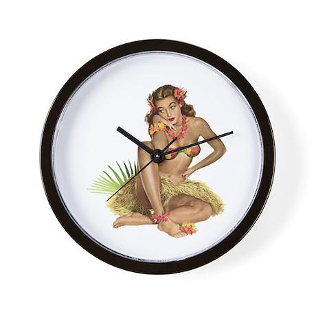 Tropical Girl Wall Clock
