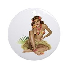 Tropical Girl Keepsake (Round)