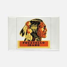 Pocatello Idaho ID Rectangle Magnet