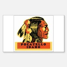 Pocatello Idaho ID Rectangle Decal