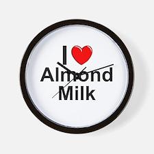 Almond Milk Wall Clock