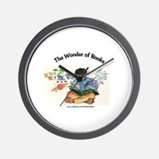 Wonder of Books Wall Clock