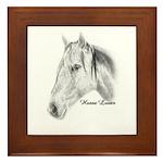 Horse Pencil Drawing Framed Tile