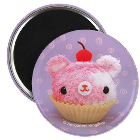 Amigurumi Berry Swirl Cupcake Bear Magnet