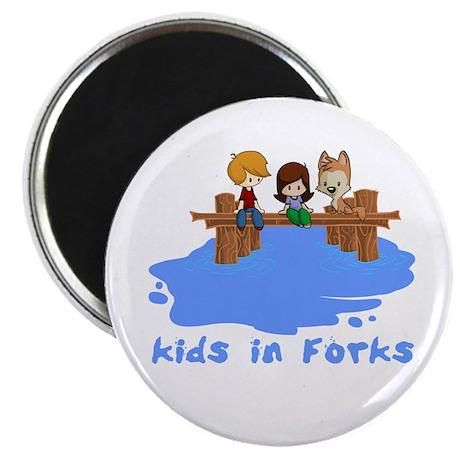 """Kids in Forks 2.25"""" Magnet (100 pack)"""