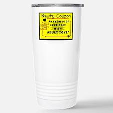 NAWTY COUPON-NITE SEX W/ADULT TOYS Travel Mug