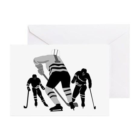 Hockey Players Greeting Cards (Pk of 10)