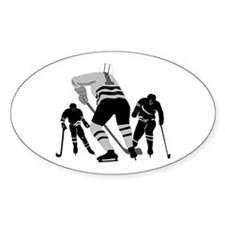 Hockey Players Oval Decal