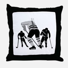 Hockey Players Throw Pillow