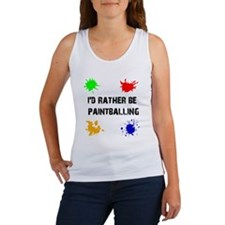 Rather Be Paintballing (Women's Tank Top)