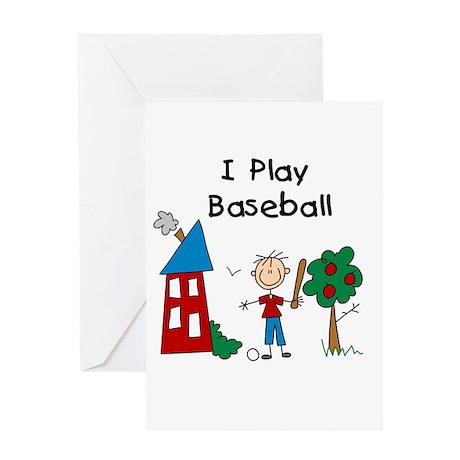 I Play Baseball Greeting Card