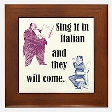 Sing Italian Framed Tile
