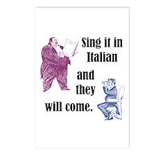 Sing Italian Postcards (Package of 8)