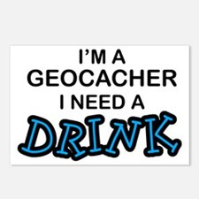 Geocacher Need a Drink Postcards (Package of 8)