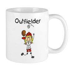 Girl Baseball Outfielder Mug