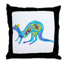Kangaroo Simple Color 1 Throw Pillow