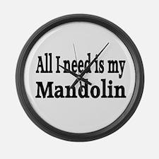 Mandolin Large Wall Clock