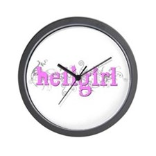 CurlyHeliGirl Pink Wall Clock