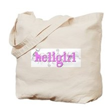 CurlyHeliGirl Pink Tote Bag