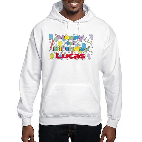 Lucas's 1st Birthday Hooded Sweatshirt